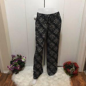 A.N.A Black &Tan Free Style Pant Size L
